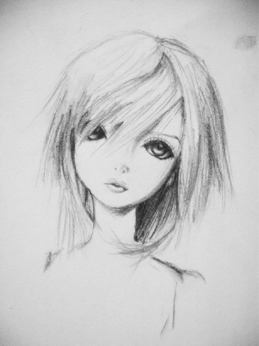 Simple Anime Pencil Art Anime Pencil Sketches For Behinners Pencil Drawing Of Natural