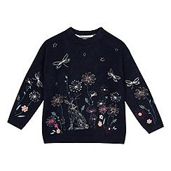 21f230a59 Mantaray - Girls  Navy Floral Embroidered Jumper