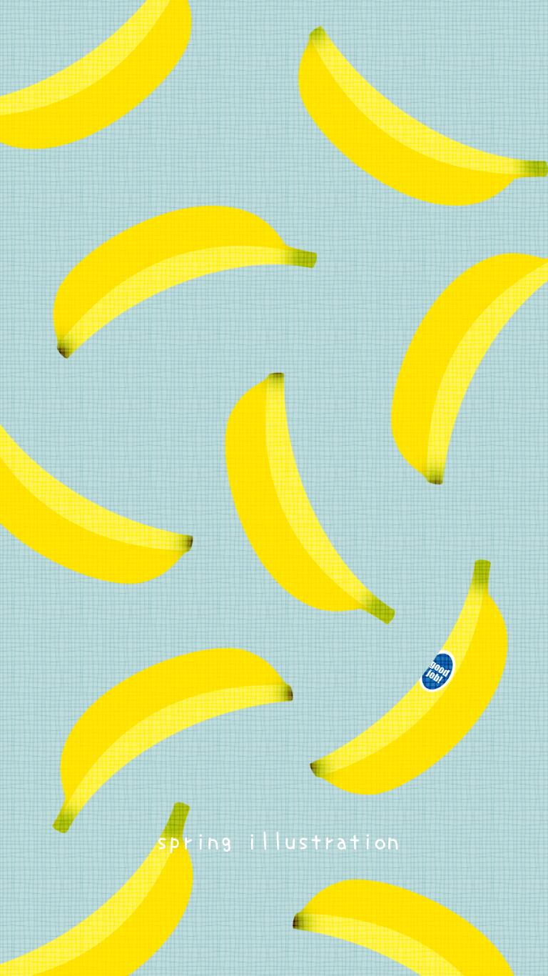 バナナ 果物のイラスト壁紙 バナナ イラスト イラスト 壁紙