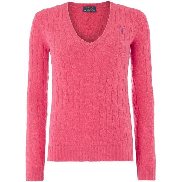 Polo Ralph Lauren Long sleeved merino cashmere mix jumper ($190) ? liked on  Polyvore