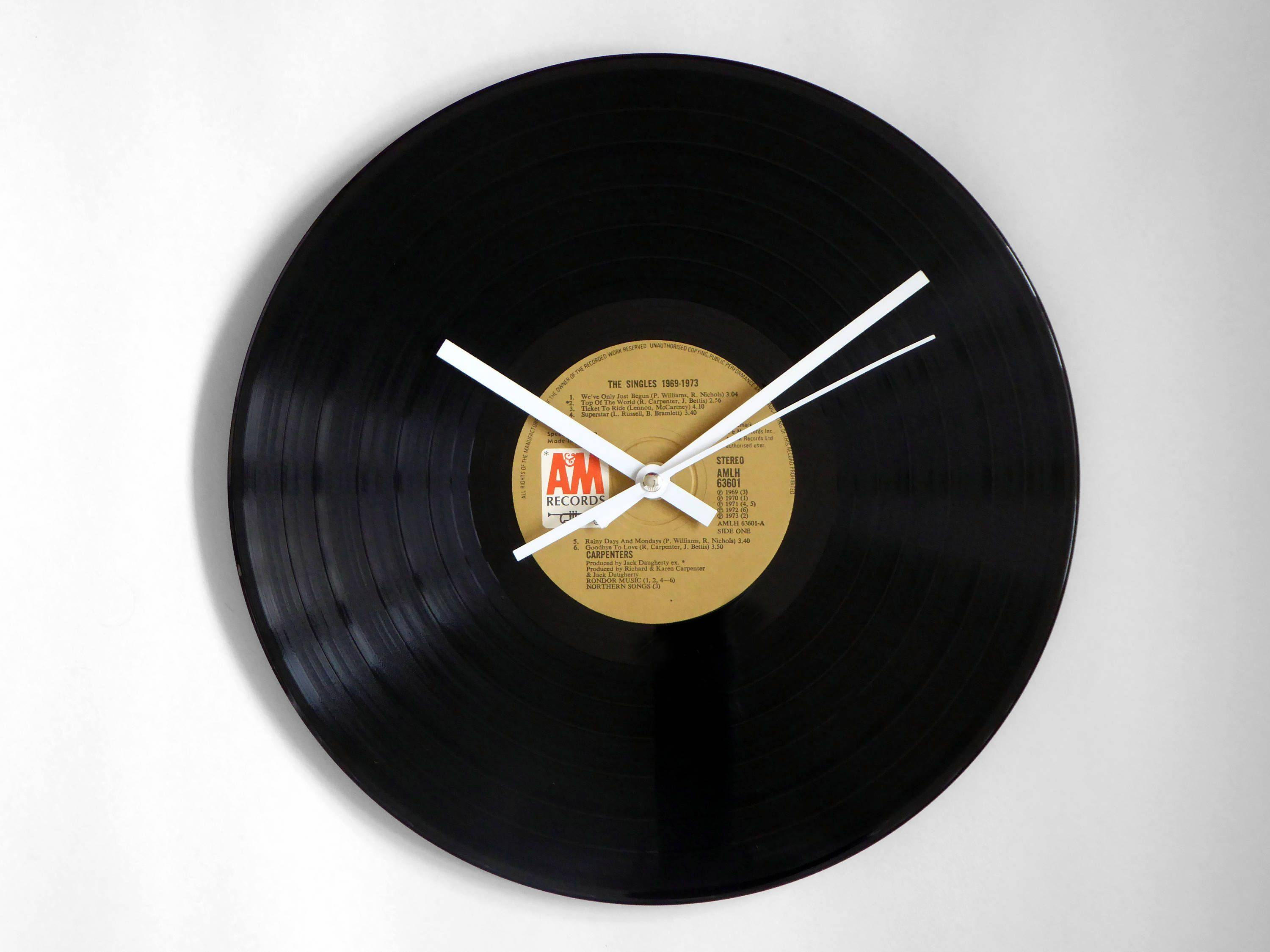 Carpenters The Singles Vinyl Record Wall Clock Vinyl Records Record Wall Vinyl