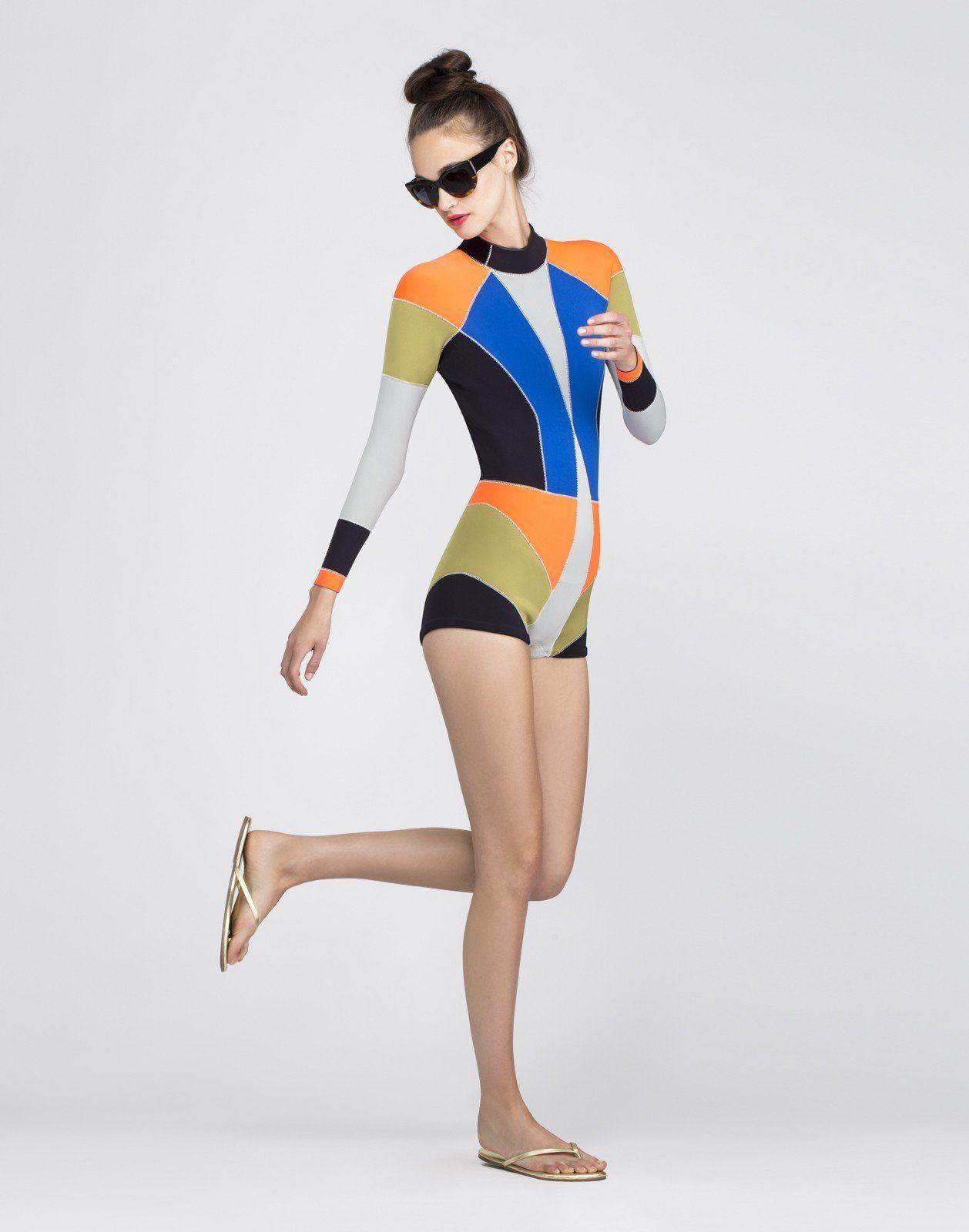 Cynthia Rowley - Cynthia Rowley x J Crew ColorBlock Wetsuit