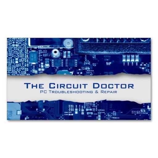 Computer Repair Business Card Electronic Circuits   Computer ...