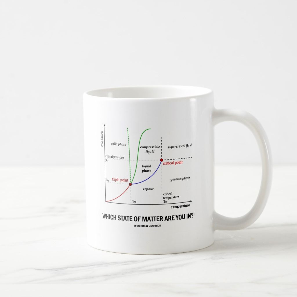 Which State Of Matter Are You In Chemistry Coffee Mug