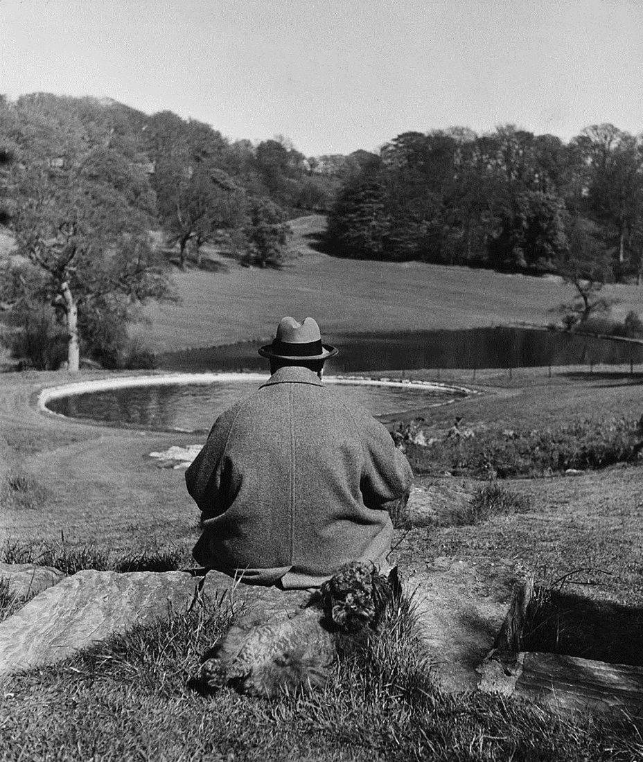 Winston Churchill, 1951, Philippe Halsman. (1906 - 1979)