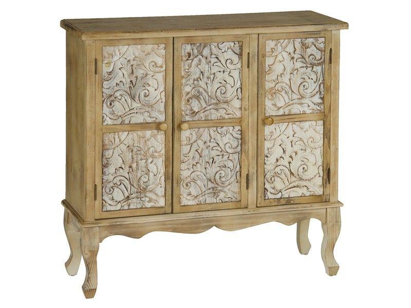 Credenza Con Puertas : Aparador edén natural de madera 3 puertas vintage pinterest