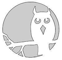 Large Owl Pumpkin Carving Template  Favs    Owl