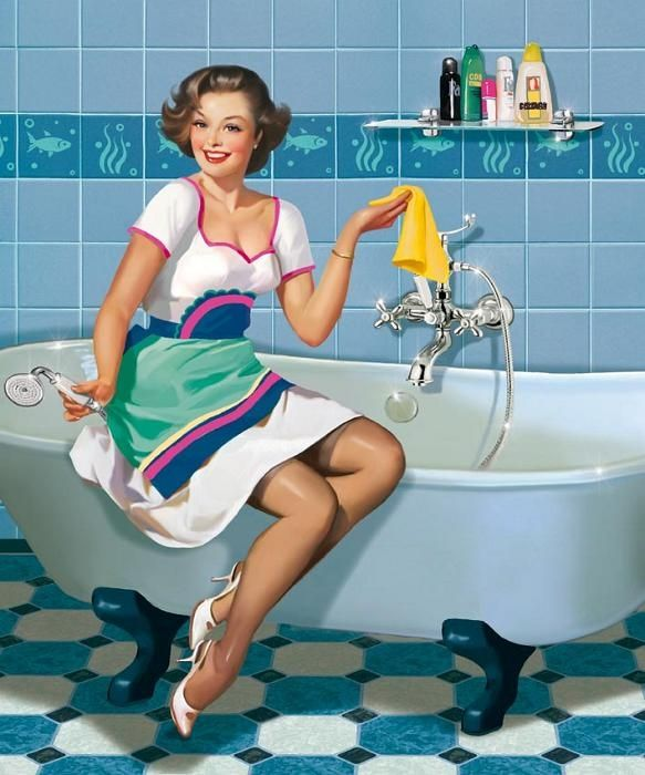 Scrubbing the tub used to be fun! ~ Tatyana Doronina.