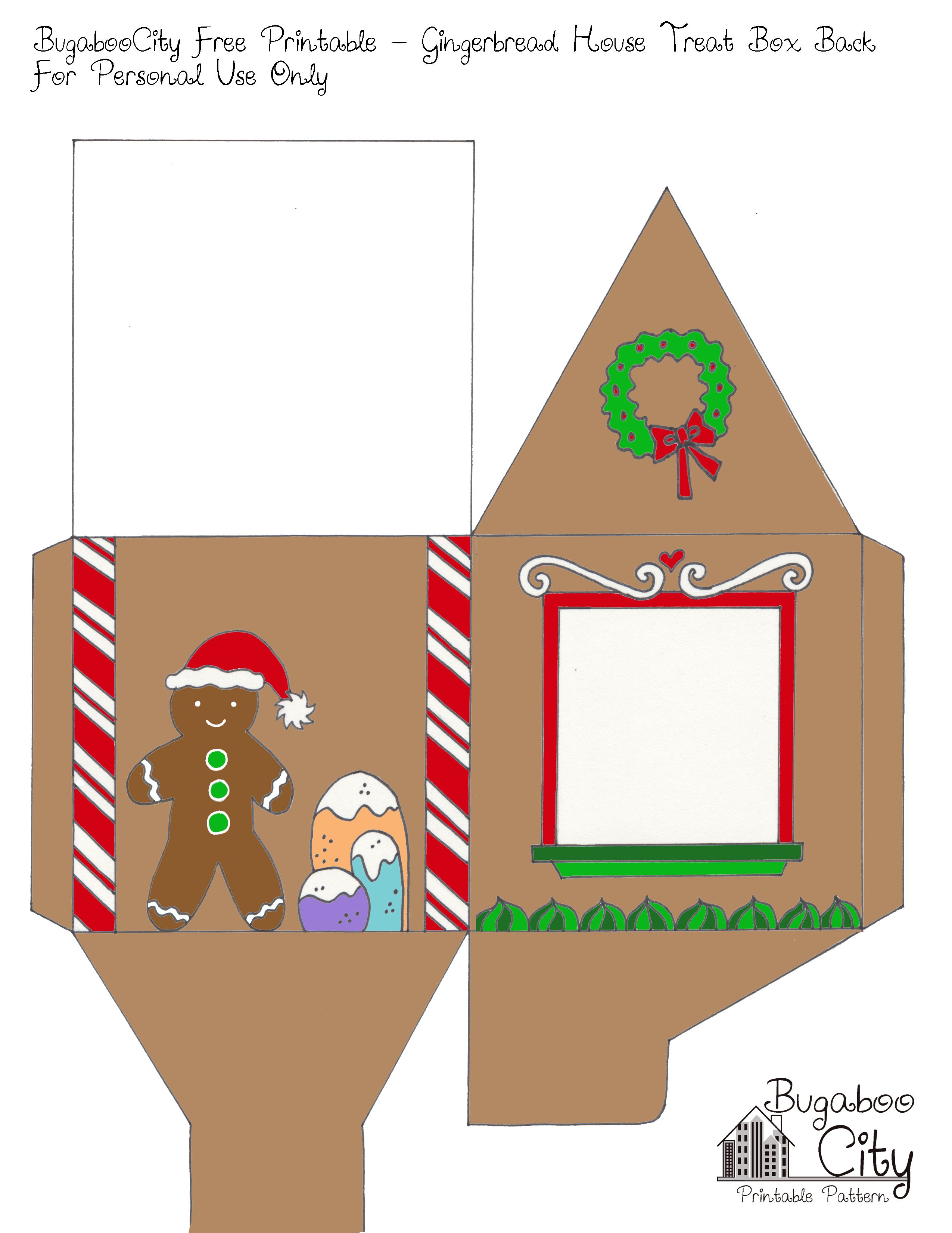 Gingerbread house free printables - Dollhouse Miniatures Printables Google Search Gingerbread House