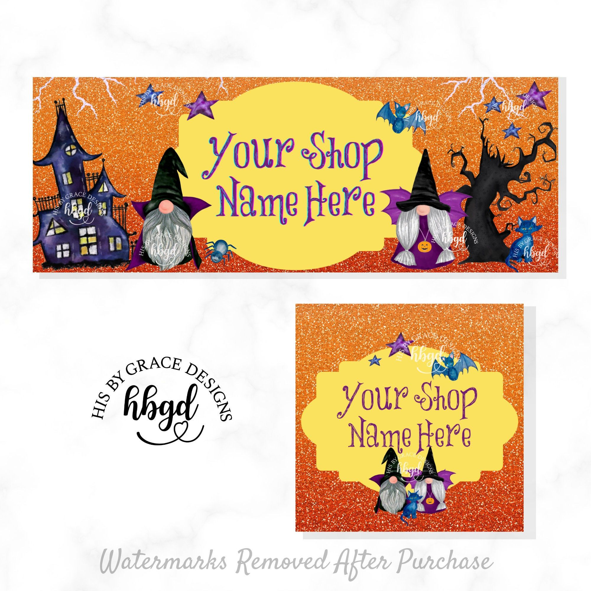 Where Does Halloween 2020 Fall In The Timeline Fall Etsy Shop Banner for Shop Halloween Gnomes Facebook Cover