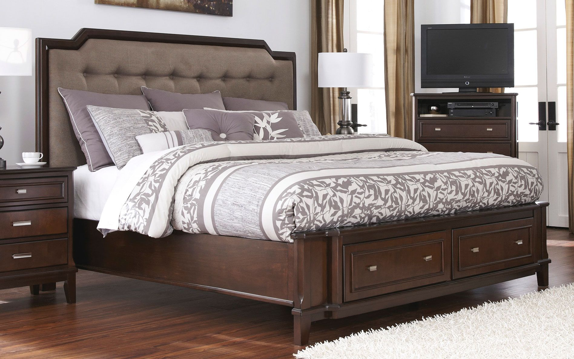 Bedroom Luxury King Upholstered Headboard For Bedroom Decoration