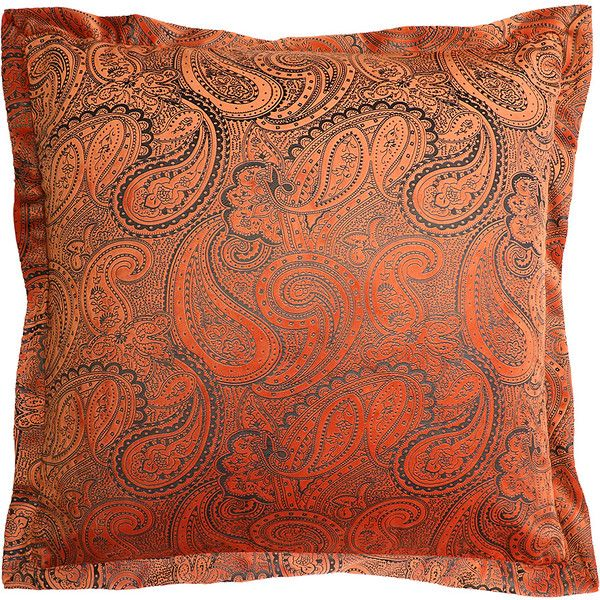 Lush Décor Rust Paisley Velvet Square Throw Pillow £40 Liked On Fascinating Lush Decor Decorative Pillows