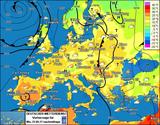 Wettervorhersage Europa Wetterdienst De Warschau Helsinki