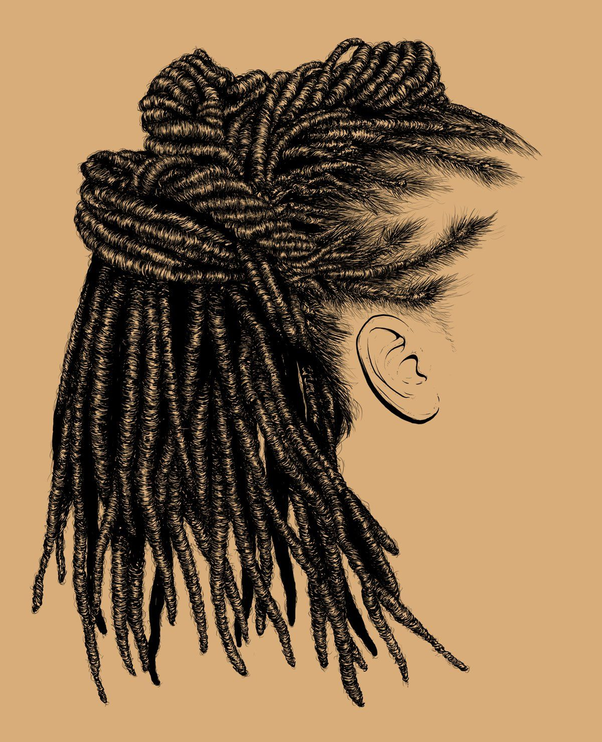 realistic hair, drawing, sketch, adobe | Eclectic: Artist ...