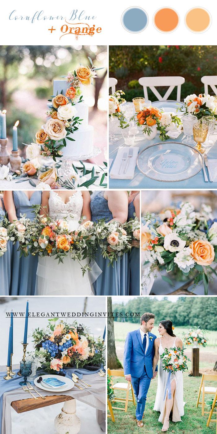 Amazing Blue Wedding Colors For Spring And Summer Elegantweddinginvites Com Blog Spring Wedding Color Palette Wedding Color Schemes Summer July Wedding Colors