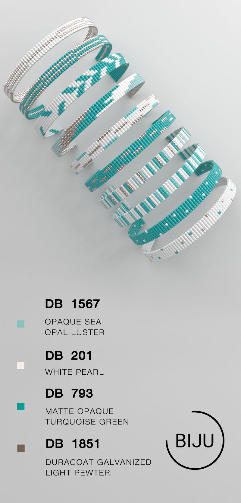 Loom bracelet pattern, loom pattern, miyuki pattern, square stitch pattern, pdf file, pdf pattern, cuff #70BIJU