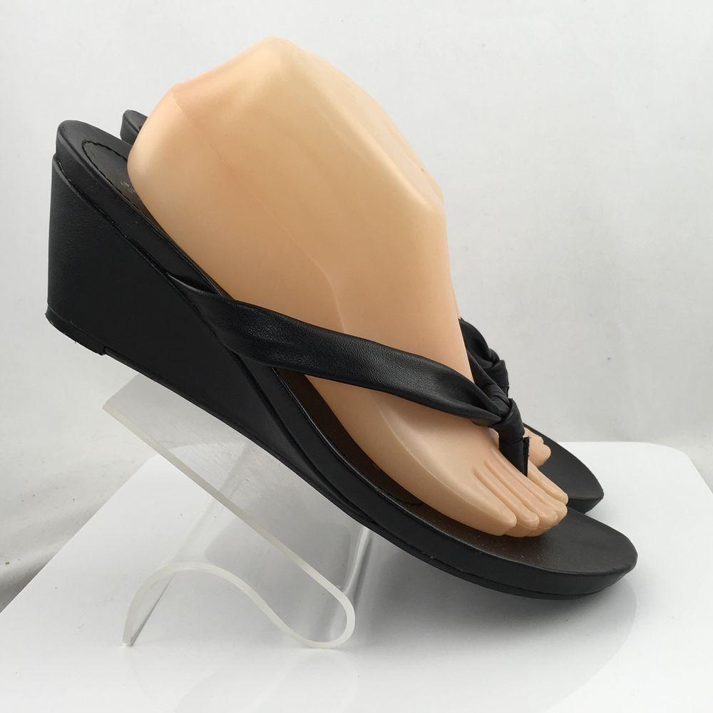 8e848c60f85d1 Naturalizer Trespass Womens Thong Sandals Flip Flops Black Size 11M casual  work  Naturalizer  FlipFlops  Casual