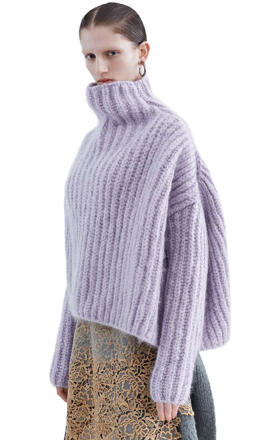 Baylay cozy knit turtleneck sweater in a wool and mohair blend ...