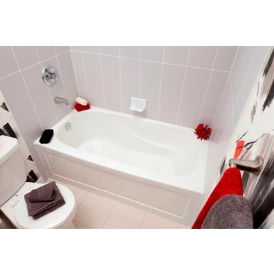 mirolin - sydney acrylic skirted tub - 60 inch x 30 inch-left hand