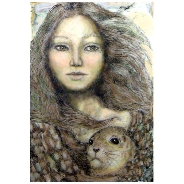 Selkie Celtic sea goddess legend giclee print ($28) ❤ liked on Polyvore featuring home, home decor, wall art, giclee wall art, sea home decor, ocean wall art, ocean home decor and sea wall art