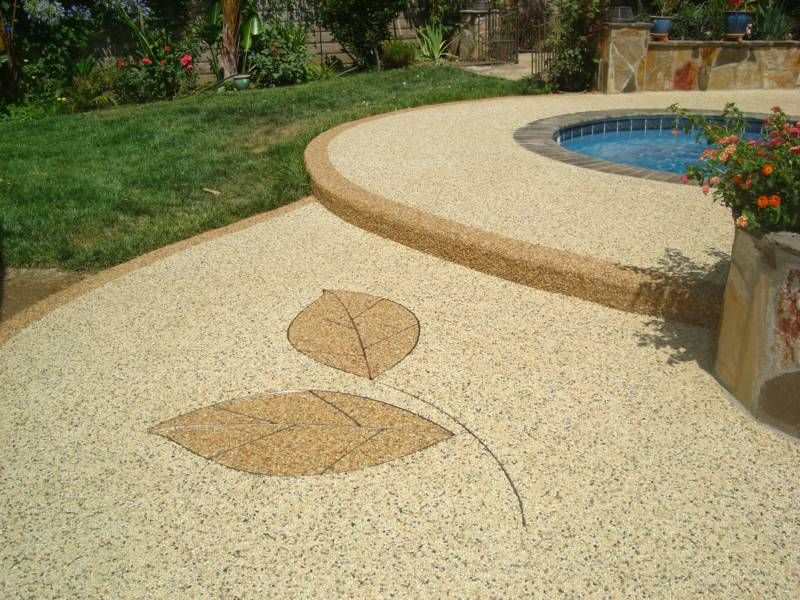 Kiesauffahrt Pebblestone Epoxy Ideas | Pebble Floor, Patio Flooring