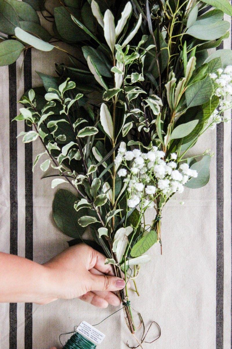 DIY Fresh Greenery Garland (With images) Diy wedding