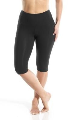 8ebb1014a76c1 Lysse Leggings Black Bike Short Below Knee Tummy Control Stretch Slimming  Pant