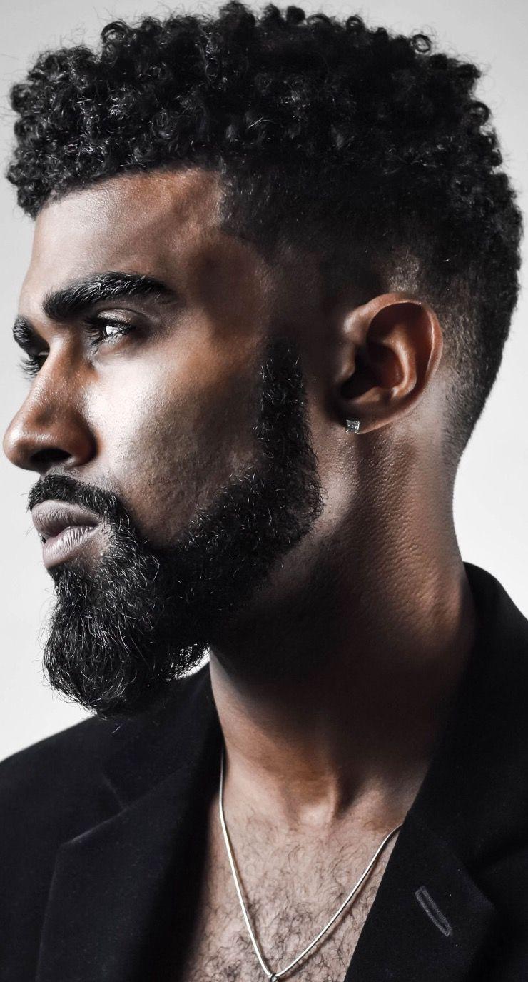Black men haircuts taper fade menus taper fade haircut with beard  bearded  pinterest  taper