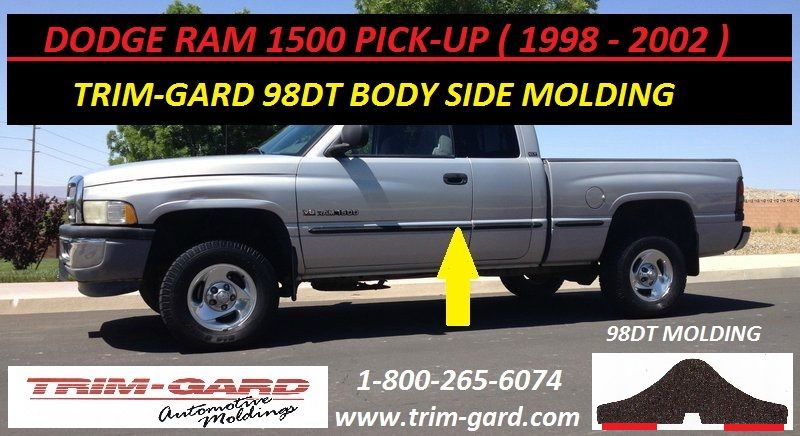1998 1999 2000 2001 2002 Dodge Ram 1500 Pick Up Body Side Molding Trim Gard Manufacturers The Dodge Ram 1500 Pick Moldings And Trim Dodge Ram 1500 Dodge Ram