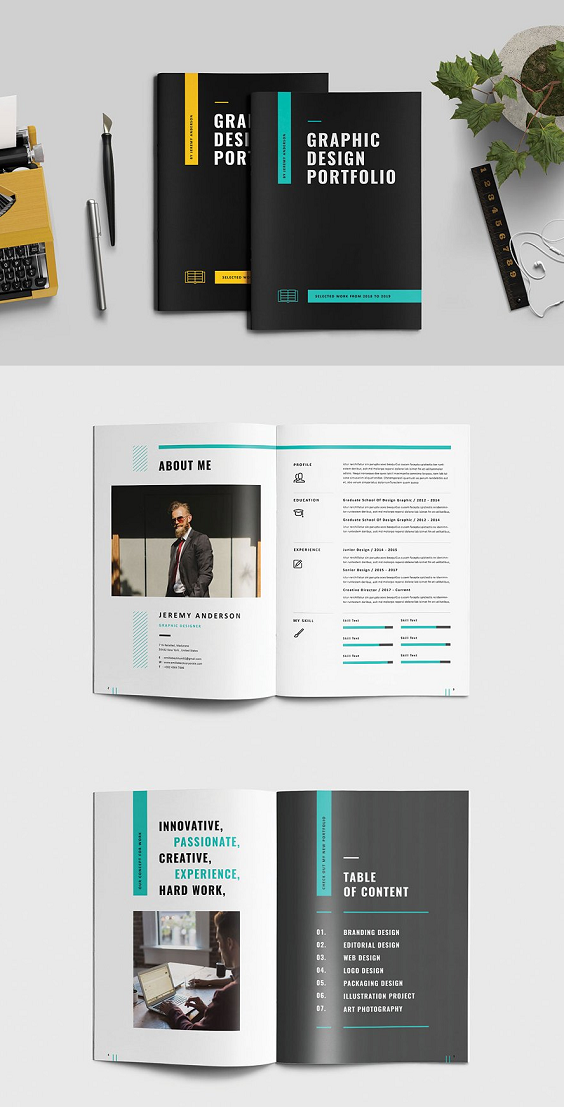 Graphic Design Portfolio a4 #size #brochure #templates # ...