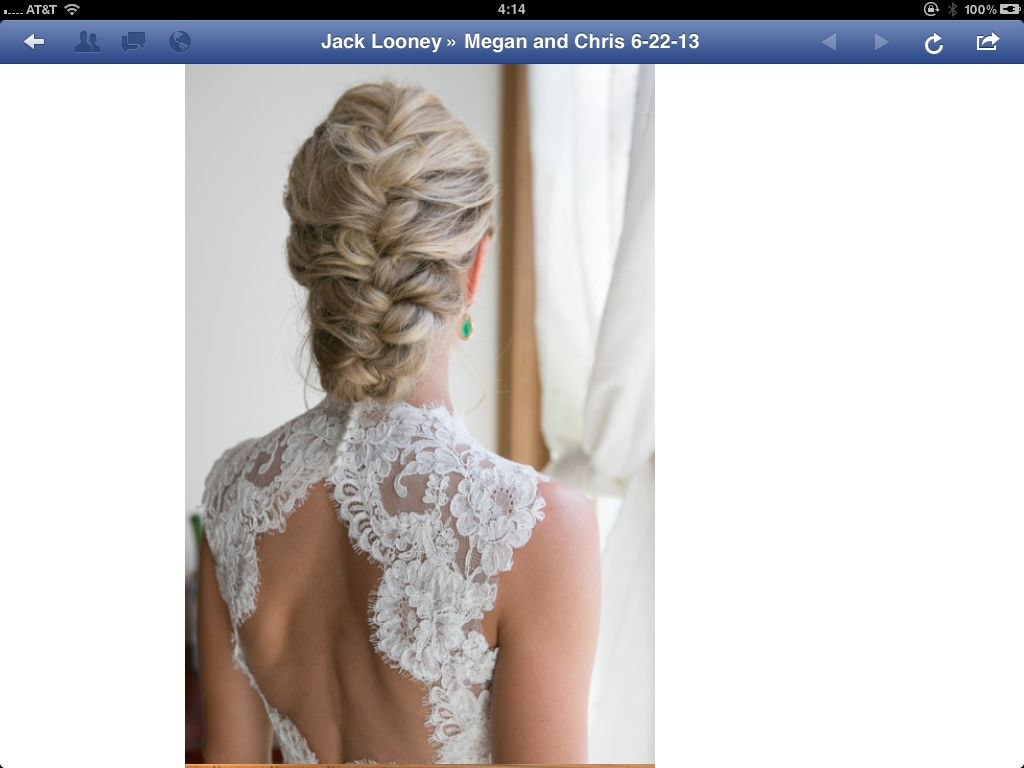 Loose French Braid | Wedding Hair: Low Chignons | Pinterest | French ...