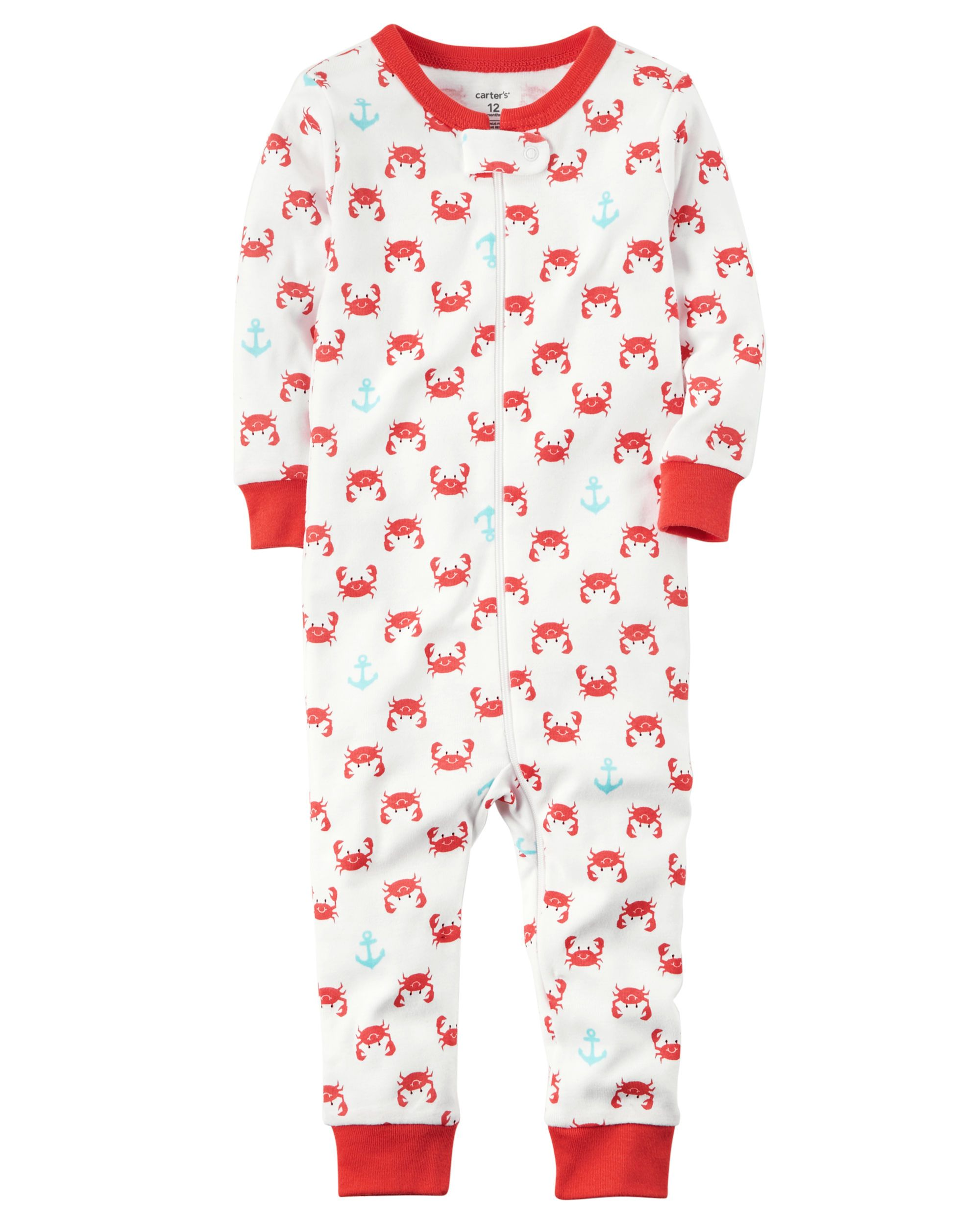 4837b3b4cacb 1-Piece Snug Fit Cotton Footless PJs