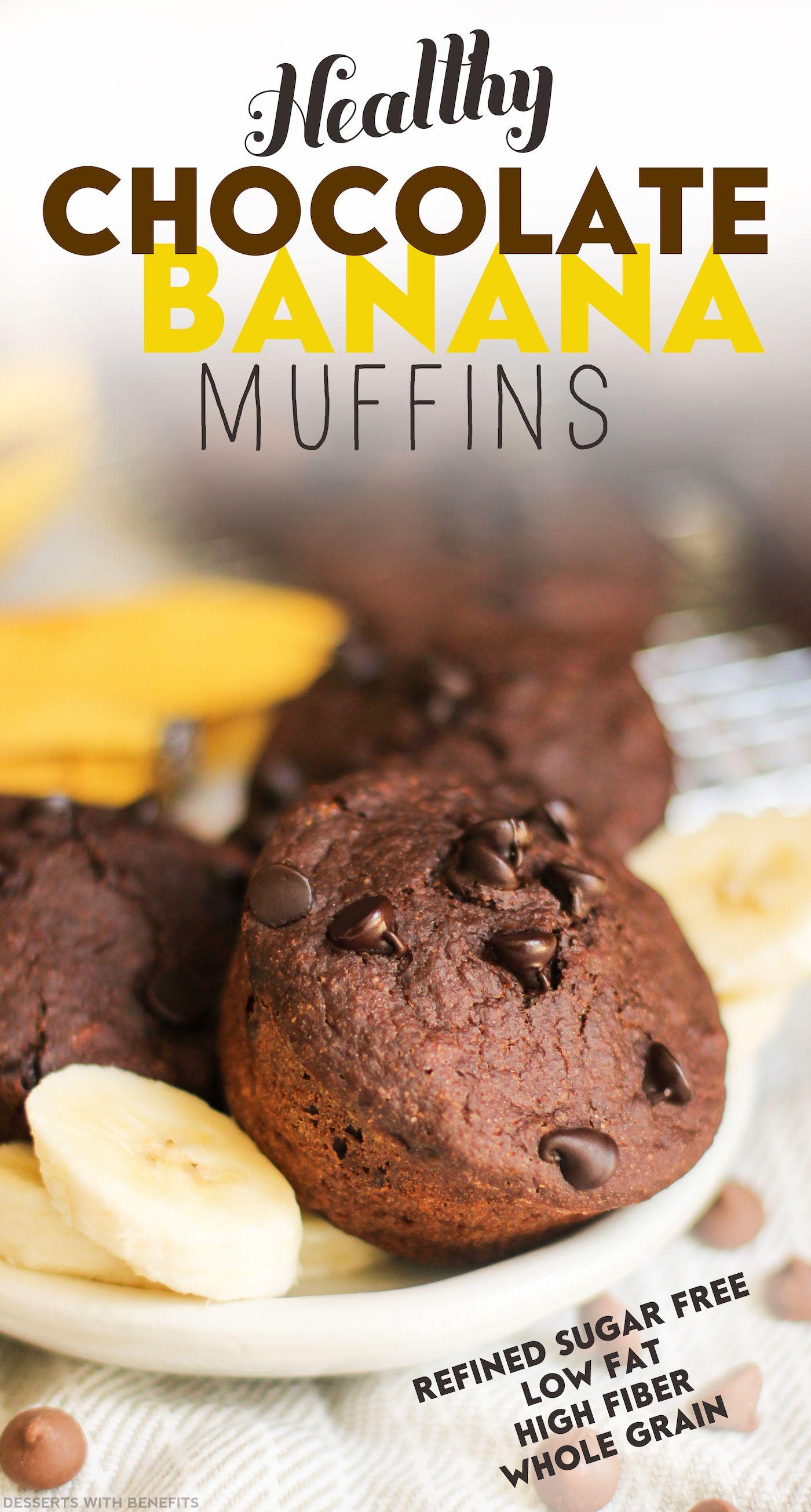 Healthy Chocolate Banana Muffins Recipe Chocolate Banana
