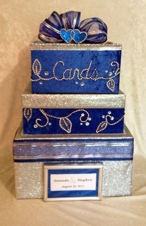 Royal Blue Weddingwedding Giftcard Boxboxes For Wedding Cards