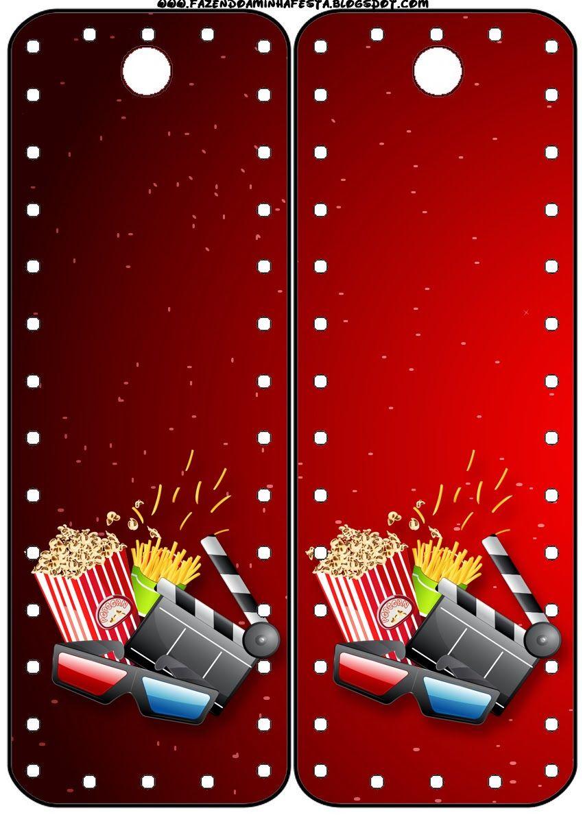 Fiesta De Cine Invitaciones Y Tarjetería Para Imprimir