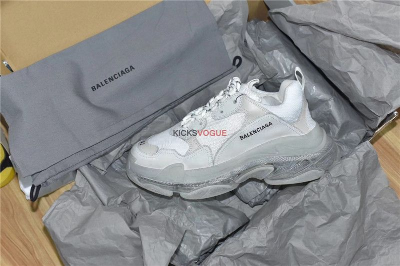 1c374dbfcd7540 Balenciaga Triple S Clear Sole Trainers White Where to Buy-KicksVogue