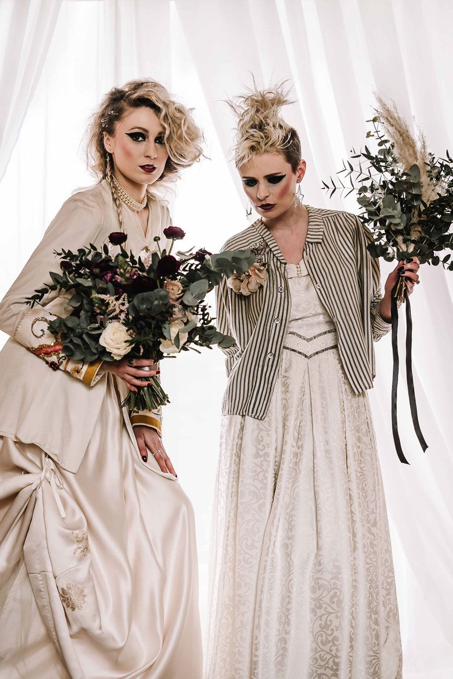 God Save The Queen: A Pretty & Punk Inspired Alternative Bridal Shoot!