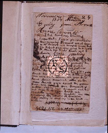 Emily Brontë and Anne Brontë diary paper, from November 24, 1834 Bonnell 131 - 1