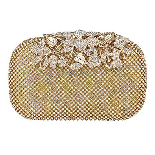 913c513984b Bidear TM Flower Purses With Rhinestones Crystal Evening Clutch BagsGold **  See this great product.