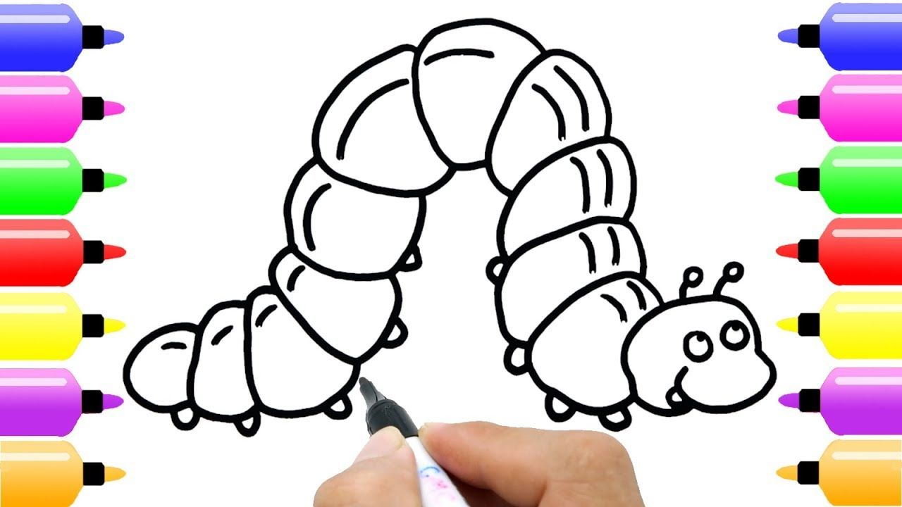 how to draw cute caterpillar for baby new coloring pages for kids