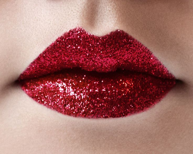 Holiday Red Glitter Lipstick Collection In 2020 Glitter Lips
