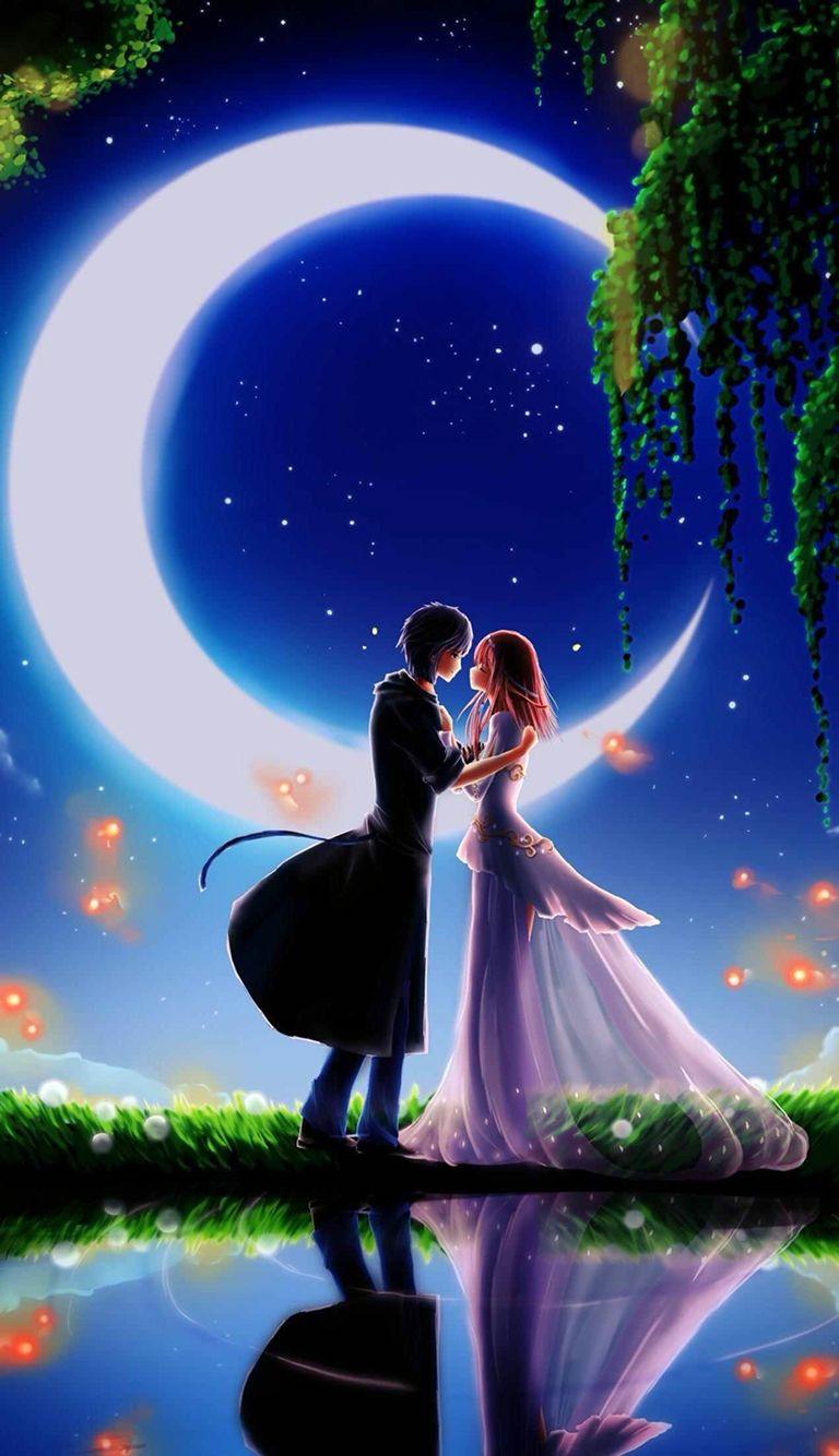 Under Then Moon Light Love Wallpapers Romantic Love Wallpaper For Mobile Love Couple Wallpaper