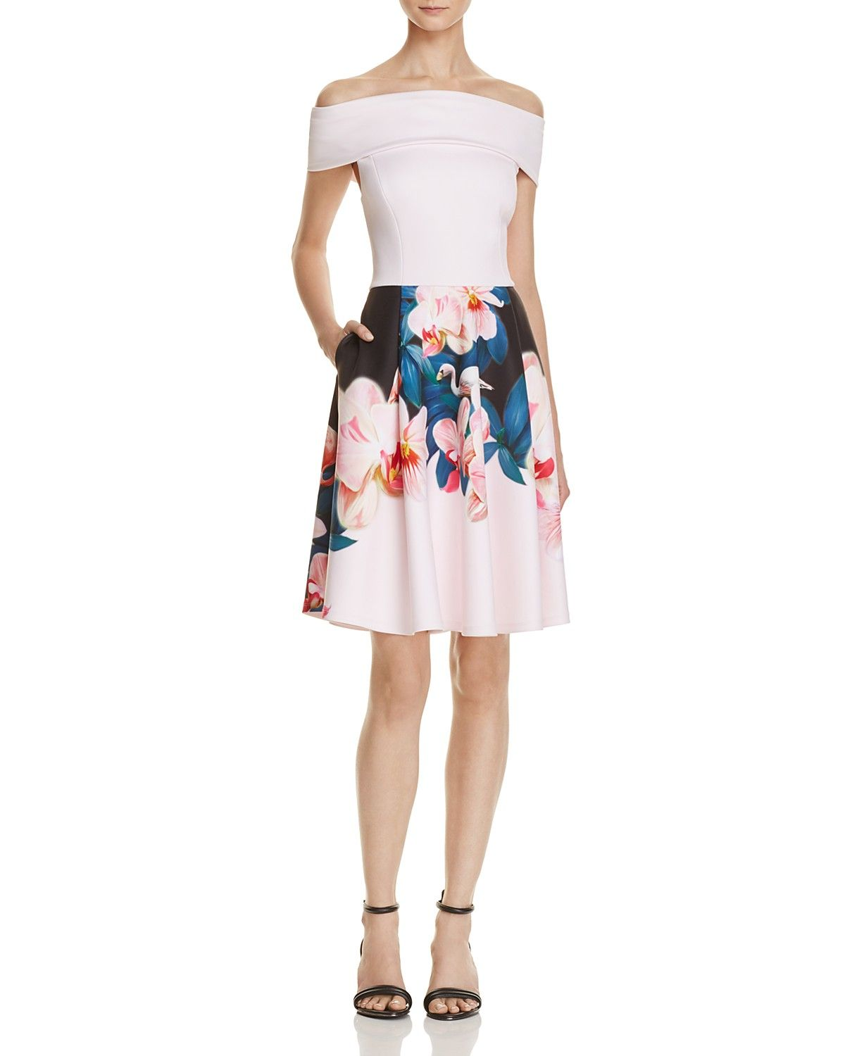 47080806d2eb Ted Baker Off-The-Shoulder Neoprene Dress - 100% Exclusive