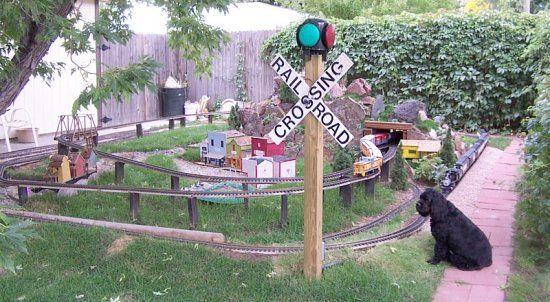 Garden Train Layout Railroading JAM L Outdoor Garden Train