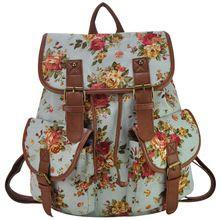 Novas mulheres florais impressão mochila mochila escolar bolsas de ombro 11-11 venda FF1932(China (Mainland))