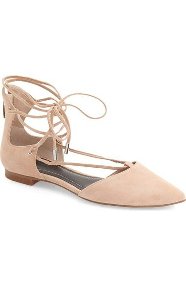 """Kendall + Kylie """"Sage"""" Pointy Toe Ghillie Flat 
