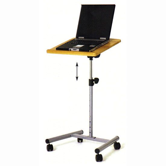 Tall Beech Laptop Height Adjustable Table/Stand, 91851