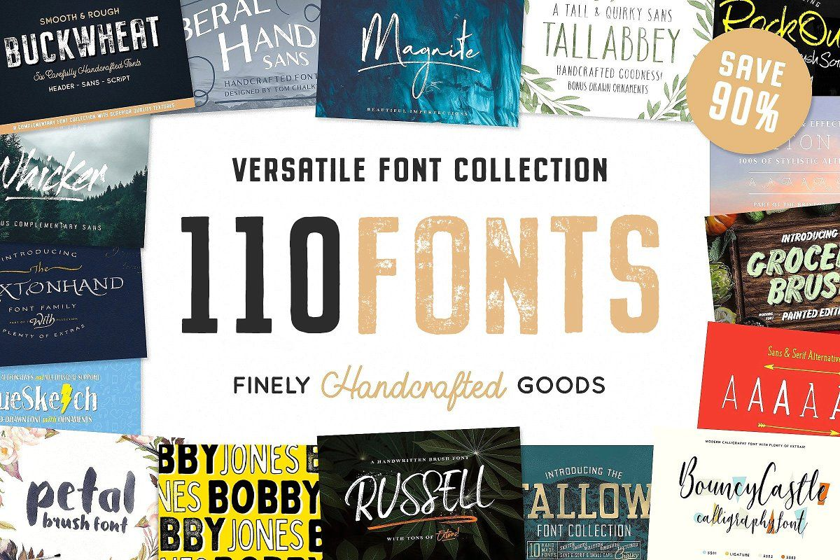 The Ultimate Handcrafted Fonts Pack | Font packs ...