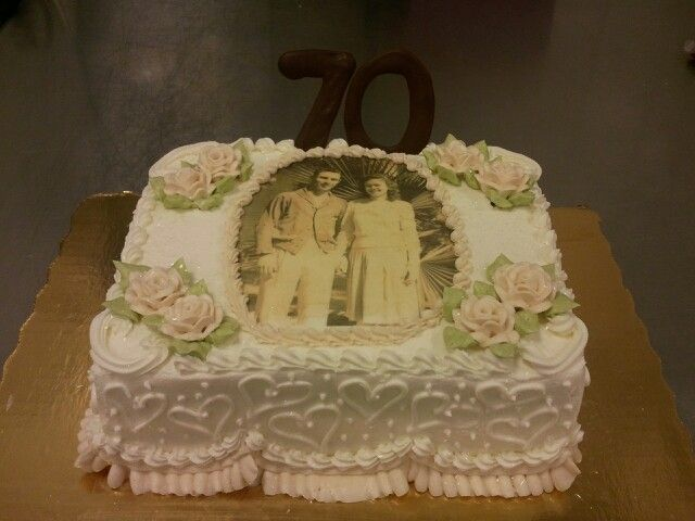 70th Anniversary Cake For My Grandparents
