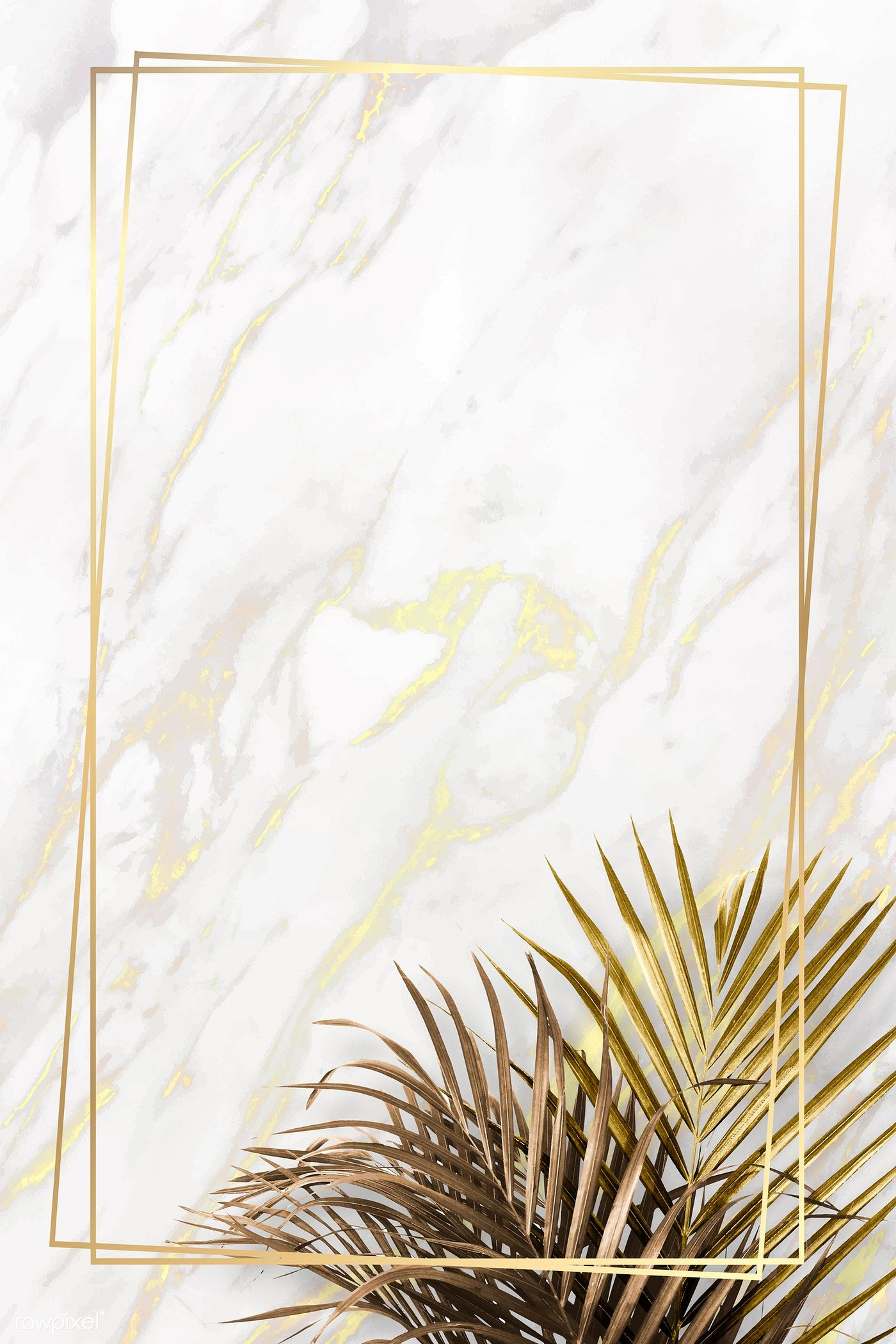 Download Premium Vector Of Rectangle Golden Frame On A Marble